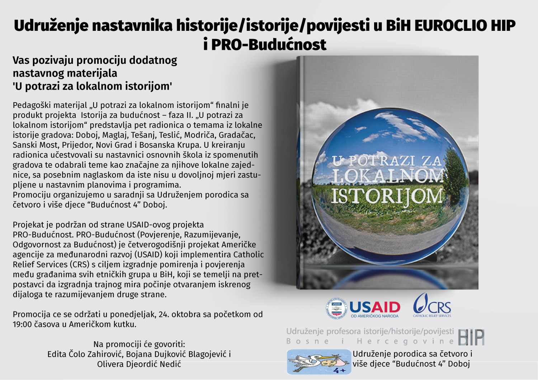 """Promocija """"U potrazi za lokalnom istorijom"""" u Doboju"""